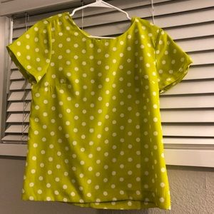 J Crew polka dot business casual top